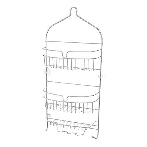 Chrome Shower Caddies (Kenney 3-Shelf Hanging Shower Caddy, Chrome)