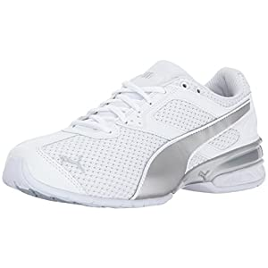 PUMA Women's Tazon 6 Knit Wn, White Silver, 8.5 M US