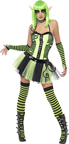 Garden Elf Costume (Smiffys Women's Tainted Garden Wild Ivy Elf Costume)