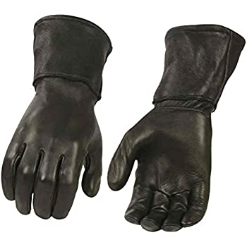 Milwaukee Leather Men's Deerskin Leather Thermal Gauntlet Gloves G317 (L)