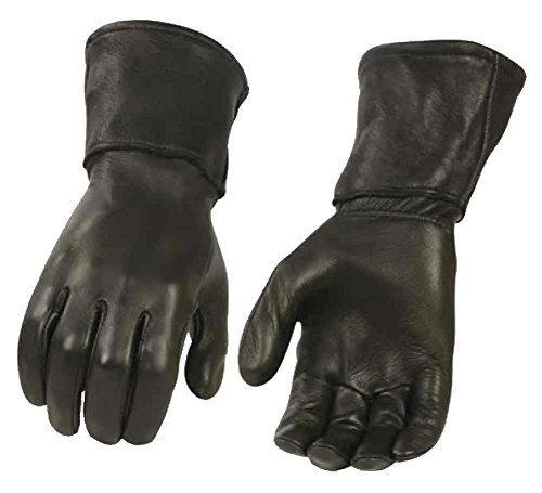 Milwaukee Leather Men's Deerskin Leather Thermal Gauntlet Gloves G317 (XL)