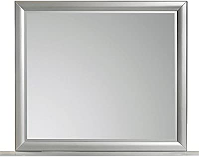 BOWERY HILL Landscape Mirror in Silver