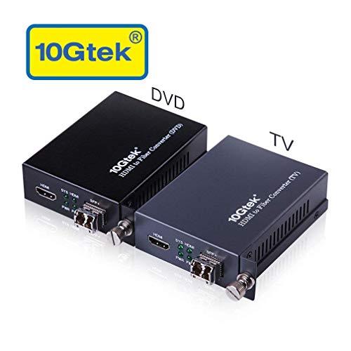 (A Pair of HDMI to Fiber Optic Converter, HDMI Extender with SFP+ Transceiver, SFP+ LR Lite Module up to 2km Link Length, Support HDMI 1.4a, 4Kx2K@30Hz)