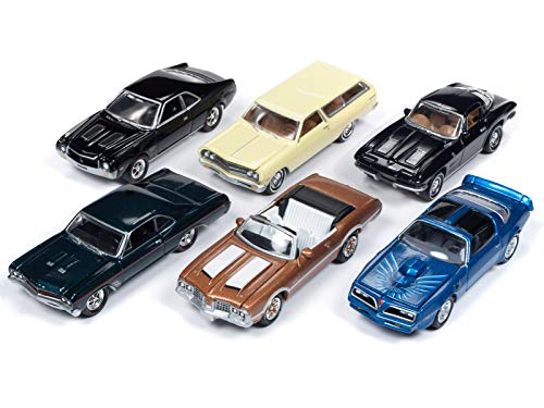 Classic Gold 2018 Release 3 Set A of 6 Cars 1/64 Diecast Models by Johnny Lightning JLCG015 A
