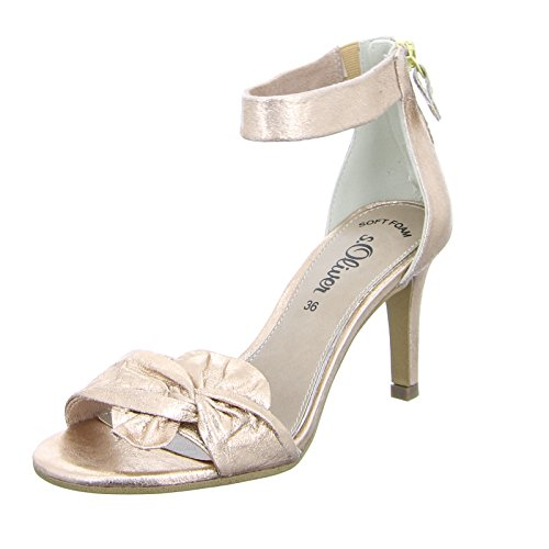 s.Oliver Black Label Damen Sandalette 55 28350 Rose Metallic