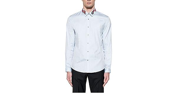 GUCCI - Camisa casual - para hombre Bleu Claire: Amazon.es: Ropa