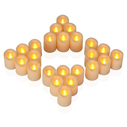Aignis Flameless Candles, Votive Candles Set 24 (H 2