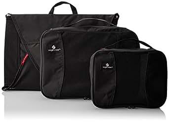 Eagle Creek Pack It Starter Set , Black,  3pc Set (Medium Garment Folder/Medium Cube/Small Cube)