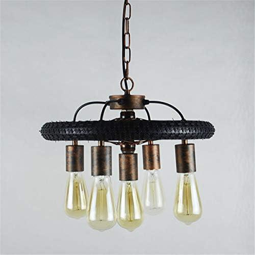 EnweLampi Industrial Retro Pendant Light, Rustic Retro Chandelier Lamp, E27 Pendant Lamp, for in Kitchen, Staircase, Bedroom, Living Room