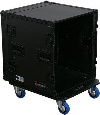 Odyssey FZAR12WBL Black Label 12 Space Amp Rack Rack Case