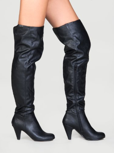 Fashion Hot Boots Knee Stretch the Women's Su Premium Black Over 01 Method d4I4xrp
