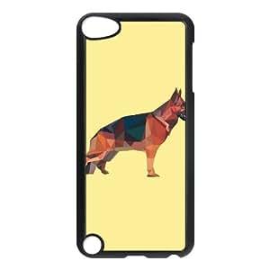iPod Touch 5 Case Black German shepherd low poly style CBVNDEA08433