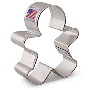 Ann Clark Cookie Cutters Happy Gingerbread Man Cookie Cutter - 3 Inches - Us Tin Plated Steel