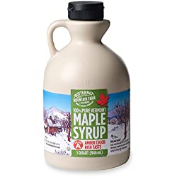 Butternut Mountain Farm 100% Pure Vermont Maple Syrup, Grade A Amber Rich, 32 Fl Oz (1 Quart)