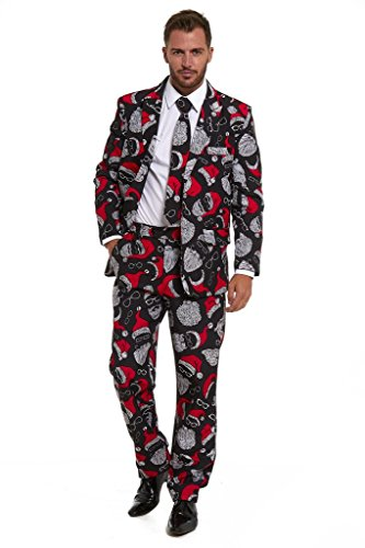 LEKEEZ Men's Costumes Christmas Xmas Halloween 2016 Stag Do Suit XL Smooth Santa -