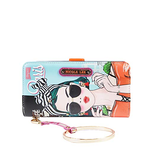 Color and Style Mini Clutch Wallet with Exclusive Print and Detachable Bracelet Wristlet and RFID Blocking (XOXO From Paris) (Ladies Handbags Xoxo)