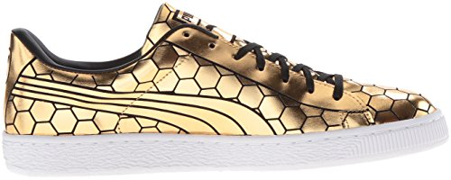 Puma Fashion Men's Metallic Classic Basket Gold Sneaker 7wqHFg