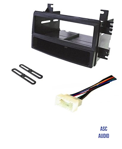 ASC Car Stereo Install Dash Kit and Wire Harness for installing an Aftermarket Single Din Radio for some Hyundai Kia Vehicles - Compatible Vehicles Listed Below