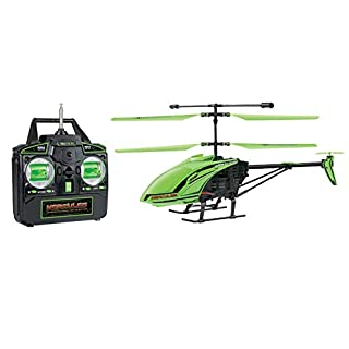 World Tech Toys Hercules Glow in The Dark Unbreakable 3.5CH RC Remote Control Helicopter