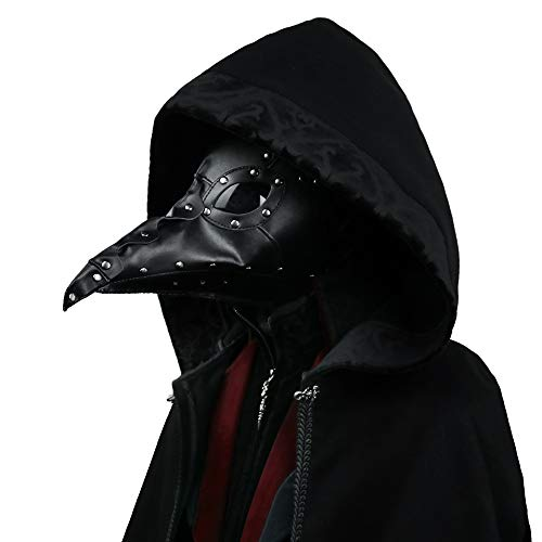 (Punk Gothic Plague Long Beak Mask Doctor Masquerade Adult Mens Womens Cosplay Bird Beak Mask Halloween)