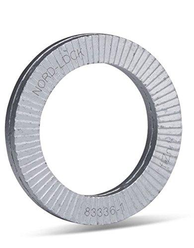 Nord-Lock Keilsicherungsscheiben NL14 (10 Stü ck) fü r M14 | 15, 2 mm x 23 mm x 3, 4 mm | aus Stahl