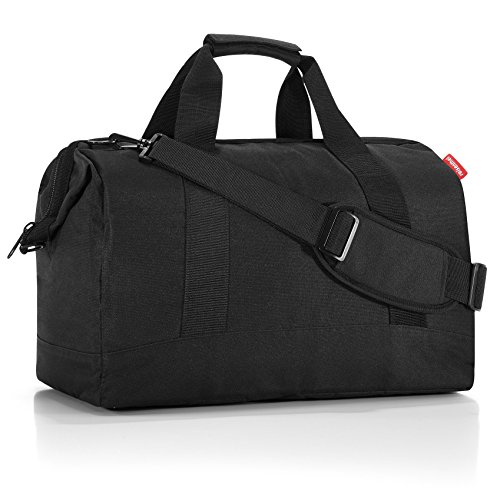reisenthel Allrounder L Large Weekender Bag, Versatile 6-Pocket Padded Duffel, Black
