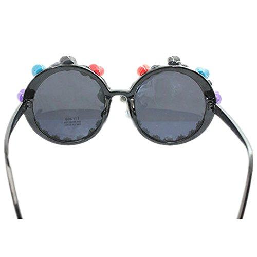 del Gafas ligero a la playa hechas la de de Ultra de de redonda polímero de sol pequeñas mujeres de Gafas la U perla las arcilla la protección de sol de la de sol la forma gafas las de para mano playa Unq4w8dRq