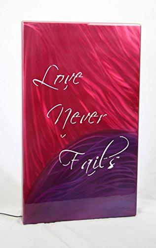 Love Never Fails Custom Airbrushed Painting Aluminum Art Backlit Panel