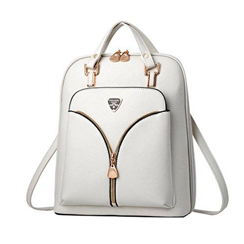 Bolso de Mano Cuero De La PU De Las Mujeres Pequeño Messenger Bags Ladies Casual Shoulder Bags Handbag blanco