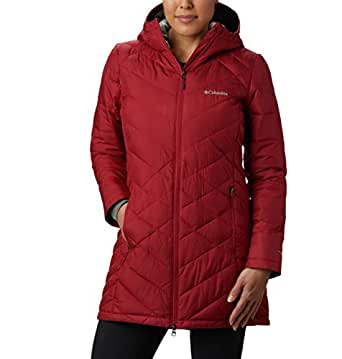 Columbia Women's Heavenly Long Hooded Jacket, Beet, 1X