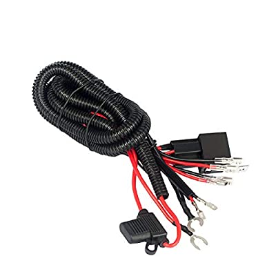 Jhe Horn Wiring Harness Kits for Car Truck Grille Mount Blast Tone Horns with 16AWG: Automotive