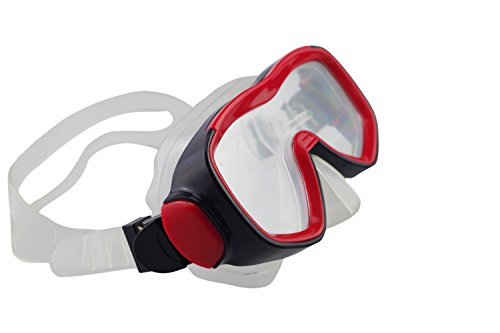 Qishi's Silicone Swimming Goggles Anti-water Anti-fog for Adult (red)