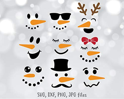 Pene Snowman face Decal Snowman Snowmen Face Christmas Decal Christmas Christmas Designs Vinyl Decal Sticker