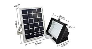 COCO Outdoor Solar Night Light Kit,80 LED 480 LM White Floodlights Spotlights Solar Panel Powered Light Control Lamp Waterproof Dusk to Dawn 8 Hours for Garden Patio Deck Yard Path Pool,Driveway