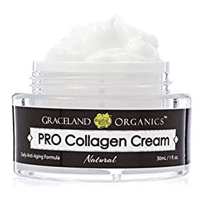 Graceland Organics Super Collagen Anti-Aging Facial Cream with Natural Ingredients Active Vitamin C, Shea Butter to Reduce Fine Lines Wrinkles Men Women Moisturizing Cream for Night and Day