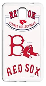 Forever Collectibles Boston Red Sox Case Cover for Samsung Galaxy Note 3, TPU Material Cases