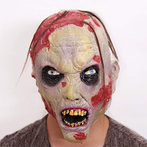 YLJYJ Full Head Mask, Monster Mask, Zombie Costume Party Rubber Latex Mask for Carnival, Halloween & Carnival - Adult Costume - Latex, Unisex