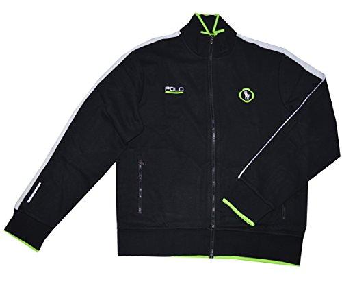 Polo Ralph Lauren Sport Thermovent Men's Full Zip Interlock Track Jacket (XX-Large, Polo Black)