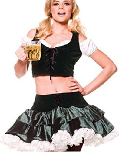 Fraulein Girl German Beer Maid Oktoberfest Womens Halloween Party Costume (Large) (Beer Maid Costumes)