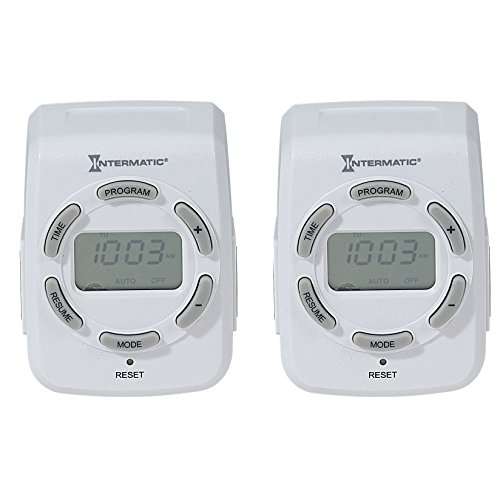 Intermatic DT122K 15 Amp 120V Indoor Programmable 7-Day Digital Timers, 2-Pack