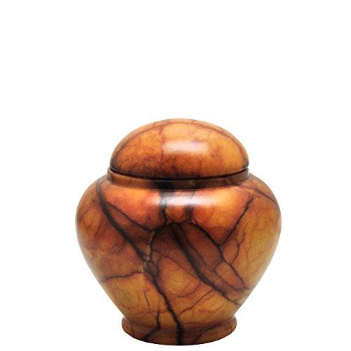 Alabaster Stone Cremation Urn Keepsake Size-Grandeur (Alabaster Urn compare prices)