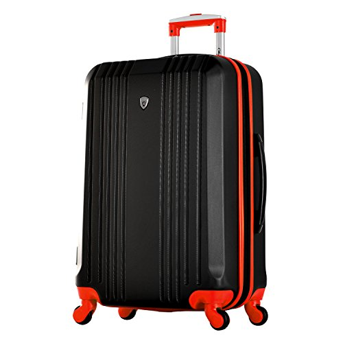 Olympia Apache 3pc Hardcase Spinner Luggage Set, Black/Red by Olympia (Image #7)