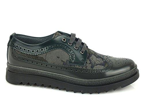 Alviero Piel Martini de Mujer de Classe Zapatos Cordones 1 para BgBSwq4xr