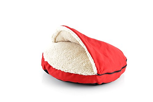 HappyCare Textiles Pet Cave and Round Pet Bed for Cats and S