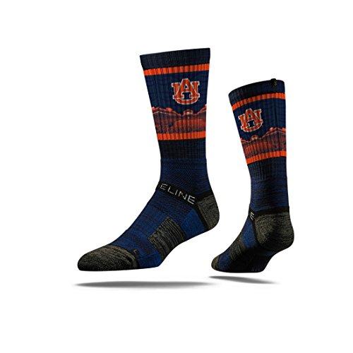 NCAA Mens Auburn Tigers Strideline Crew Socks, Blue, One Size
