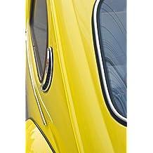 Yellow Vintage Volkswagen Beetle 2 Photo Art Print Poster 12x18