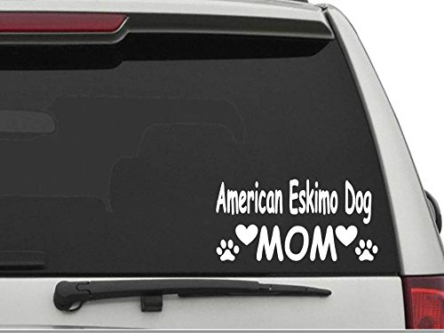 Eskimo Dog Mom Decal Sticker for Car and Truck Windows and Laptops ()