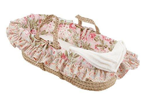 Cotton Tale Designs Moses Basket, Tea Party by Cotton Tale Designs [並行輸入品]   B00ZVO8XYK