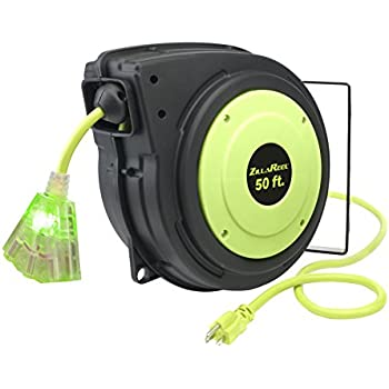 Flexzilla Zillareel 50 Ft Retractable Extension Cord Reel