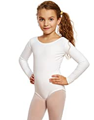 Leveret Girls Leotard Basic Long Sleeve ...